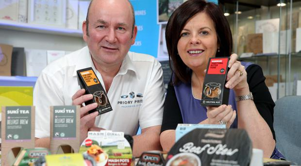 Mark McConville of Priory Press with Oonagh Murtagh from Danske Bank