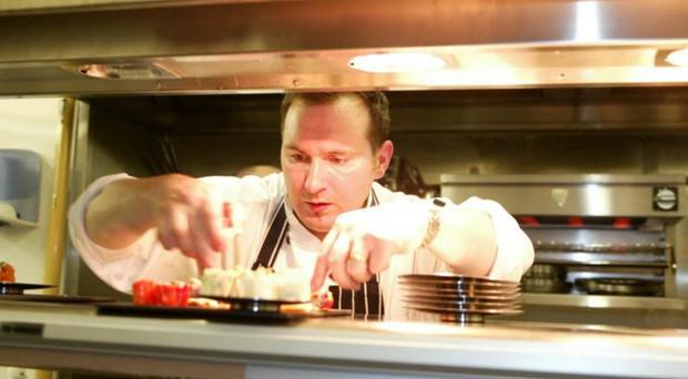 Niall McKenna in the kitchen of James Street South