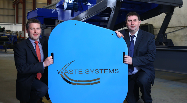 Managing director at Waste Systems Nishi Ward with Mark Canning, senior investment manager of WhiteRock Capital Partners