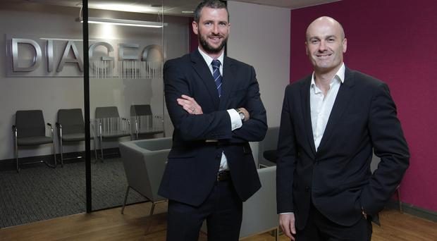 Brendan Moley, Operations Director at Mac Interiors with John Priest, Global Workplace Projects Manager at Diageo