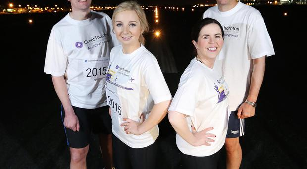 Partner in charge of Grant Thornton Northern Ireland, Richard Gillan,with Peter Legge, tax partner, Hannah McHugh, marketing executive, and Louise Kelly, audit partner