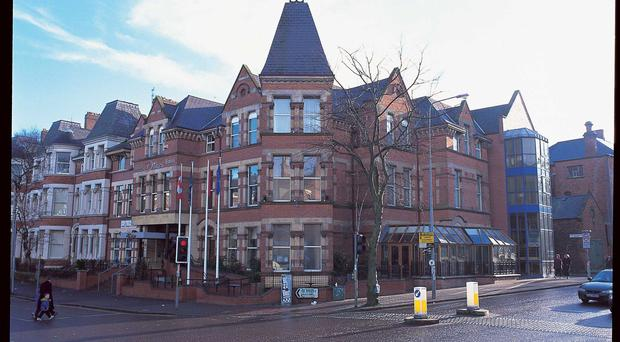 Dukes Hotel on University Street, Belfast, is on the market