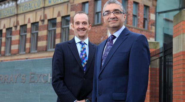 Keith Graham and Mukesh Sharma from Selective Travel Management celebrated their successful bid for work from Southern Universities Purchasing Consortium