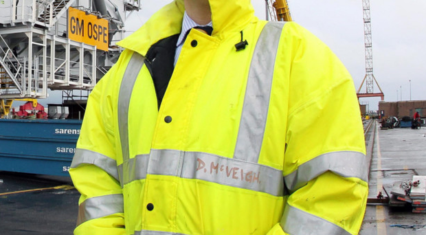Harland & Wolff's sales and marketing manager David McVeigh