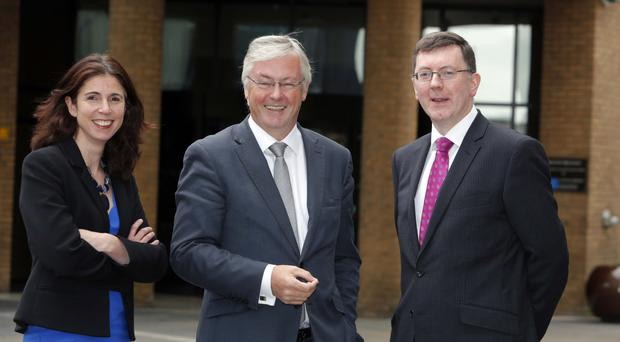 Rain Newton-Smith, CBI Director, Economics and Colin Walsh CBI NI Chairman, Alan Bridle, UK Economist and Market Analyst, Bank of Ireland UK Plc