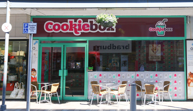 A Cookie Box shop in Belfast city centre — the firm started just seven years ago but is becoming a successful international chain KEVIN SCOTT