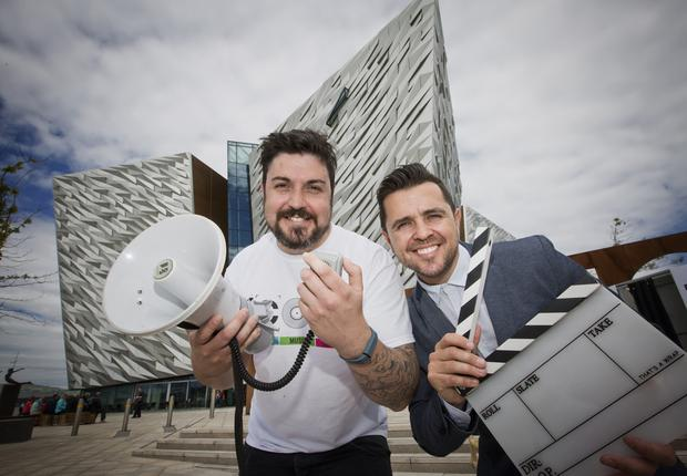 Aaron Taylor is joined by Cool FM's Pete Snodden to officially launch the ICONS festival in Titanic Quarter, Belfast