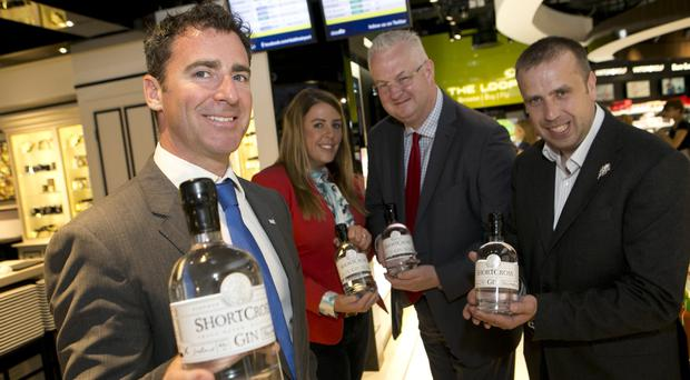Andrew Cowan of NI Connections, with Fiona and David Boyd-Armstrong and Paul Neeson of Dublin Airport