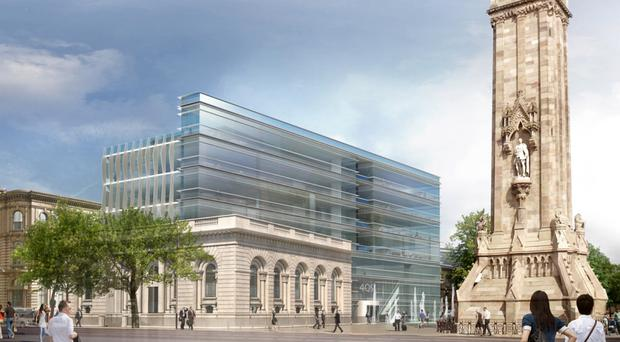 An impression of the £20m Queen's Square plan which will retain the listed Victorian part of the building