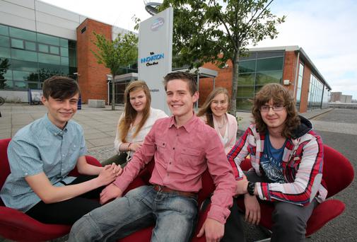 Young entrepreneurs Mason Robinson, Rebekah Loughlin, Jack Wallace, Erin Bennett and Mark Ireland secured their Science Park internships