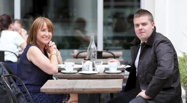 NI Chamber of Commerce chief executive Ann McGregor and John Mulgrew have lunch at Coppi in Belfast
