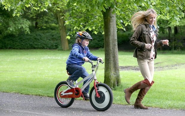 A child enjoying his Jyrobike - which helps children learn to ride without stabilisers