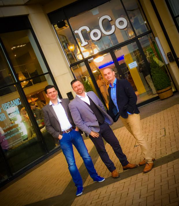 From left, Liam Nelis, Sean Furey and Graham McDarby outside the new RoCo salon