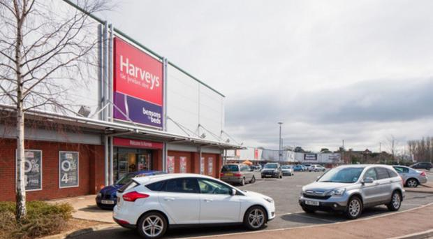 The Harveys store at Valley Retail Park