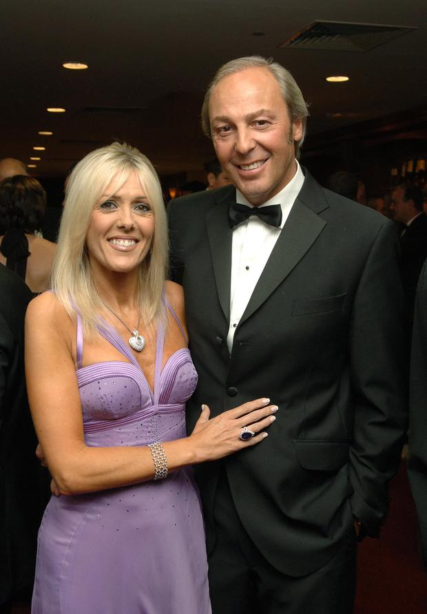 Businessman Michael Herbert with his wife Lesley