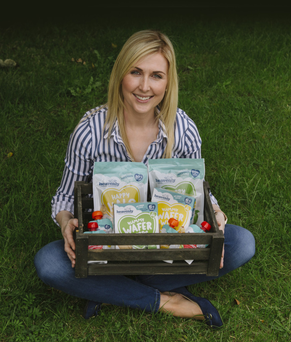 Shauna McCarney-Blair with some of her organic snacks
