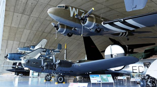 Some of the aircraft on display at Duxford, where Marcon will be working on a major refit