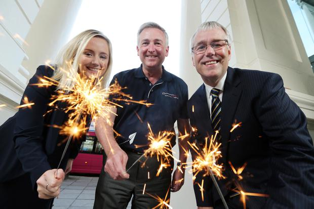 Lynsey Cunningham from Ulster Bank, Ken Whipp from the Entrepreneurial Spark programme and Ulster Bank's Richard Donnan