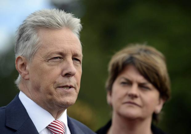 Former Finance Minister Peter Robinson and the current incumbent, Arlene Foster