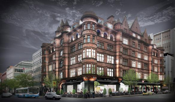An artist's impression of the Bedford Hotel, which is on schedule to open in October next year