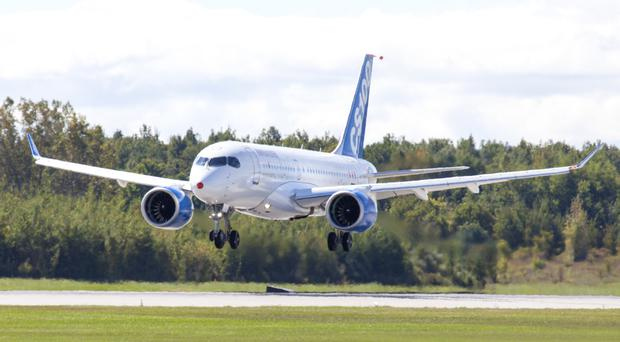 Order hopes: the Bombardier CSeries jet