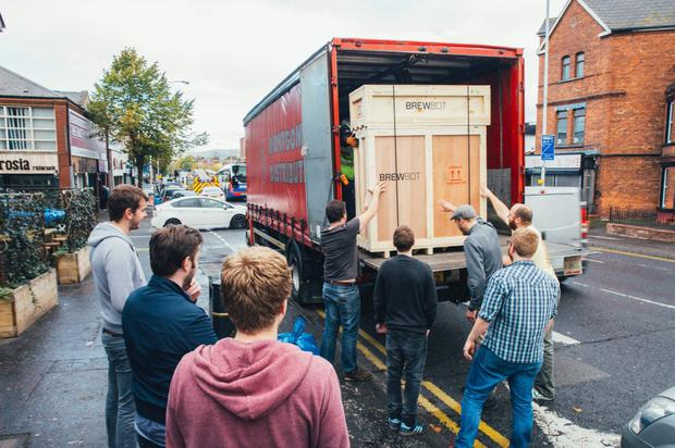 Brewbot load their first units