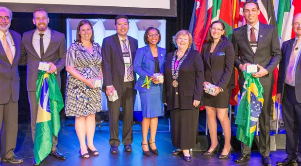 International members of the credit union movement at the 2015 World Credit Union conference in Denver this year — next year they will be at Belfast's Waterfront Hall