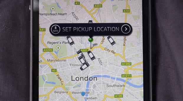 Taxi service: the Uber app