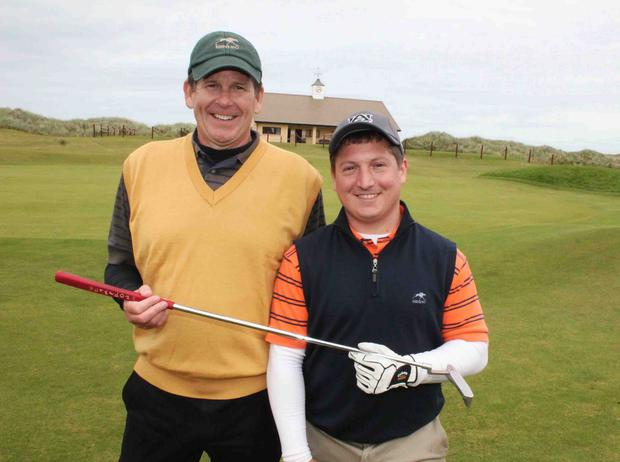 US golfers Bruce and Dwight Price