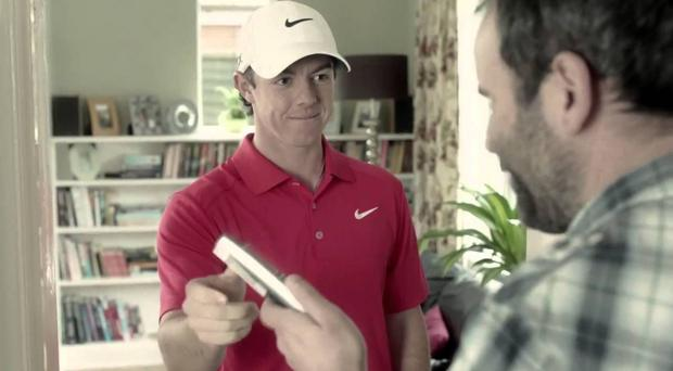 Rory McIlroy in the TV advert for Santander