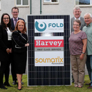 Solmatix Renewables, Harvey Group and Fold Housing Association staff after the signing of a £1m contract for the supply of solar panels