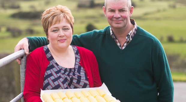 Alison and Will Abernethy who run Abernethy Butter