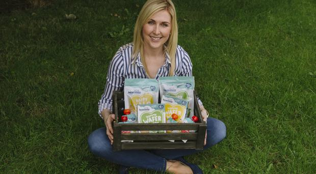 Shauna McCarney-Blair with some Heavenly Tasty Organics products