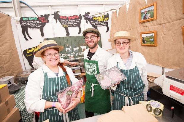 The team from Broughgammon, which produces goat meat on a farm in Ballycastle, at the Food NI pavilion at Balmoral Show last year