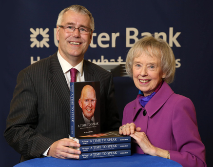 Richard Donnan, Ulster Bank's Head of NI, with Lady Moyra Quigley.
