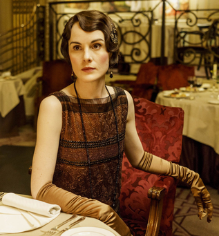 Michelle Dockery as Lady Mary in hit period drama Downton Abbey.
