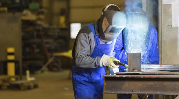 The average pay here for workers in manufacturing and services was £29,500