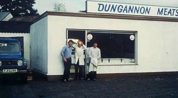 The original Dungannon Meats store in 1976