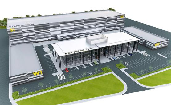 Artist's impression of the film studios
