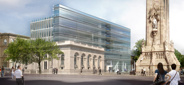 Artist's impression of Stargime's proposal for the former First Trust building