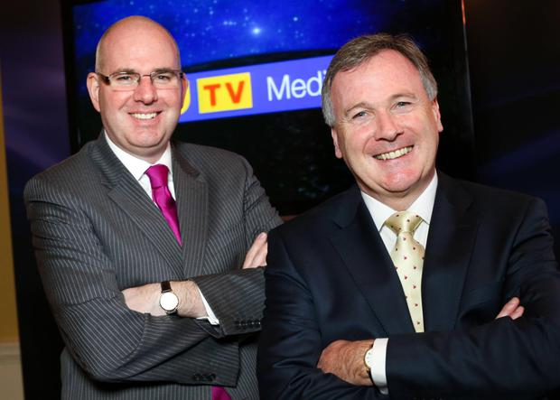 Michael Wilson (left), managing director of UTV Television, and John McCann, group chief executive of UTV Media