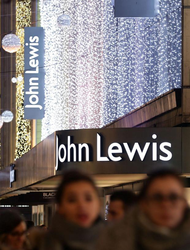 John Lewis department store on Oxford Street, London, in December