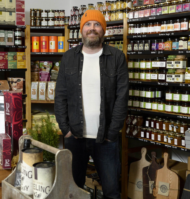 Johnny McDowell from Indie Fude at his Comber deli, which stocks a range of quality local produce