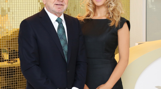 Dr Leah Totton, who won The Apprentice in 2013, with business partner and mentor Sir Alan Sugar