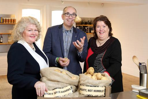 Michelle Shirlow, Angus Wilson and Paula McIntyre launch the search for Northern Ireland's best potato products