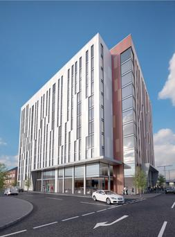 An artist's impression of UniCiti's proposed student development on York Street