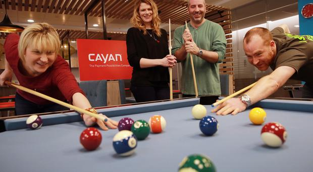 Cayan's HR manager Bronagh Major and Damien Dougan, the company's SVP of engineering, are hoping to increase the tech firm's pool of talent
