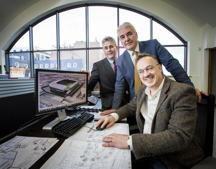 Hamilton Architects partners Seamus McCloskey, Paul Millar and Mark Haslett
