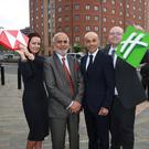 Lauren Hughes, HSBC; Lord Rana, owner of Andras House Hotels; Rajesh Rana, director of Andras House Hotels, and Philip Turner, director of IHG, Europe operations UK & Ireland