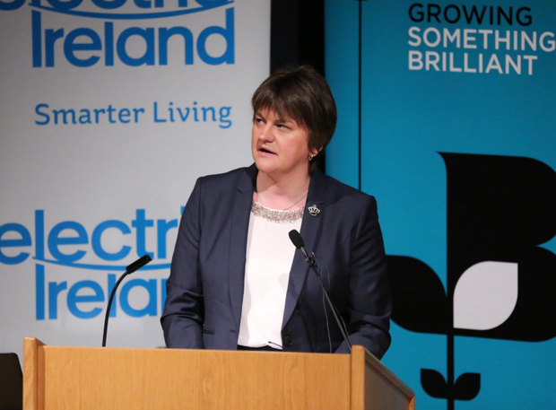 First Minister Arlene Foster at the Growing Something Brilliant leadership event yesterday